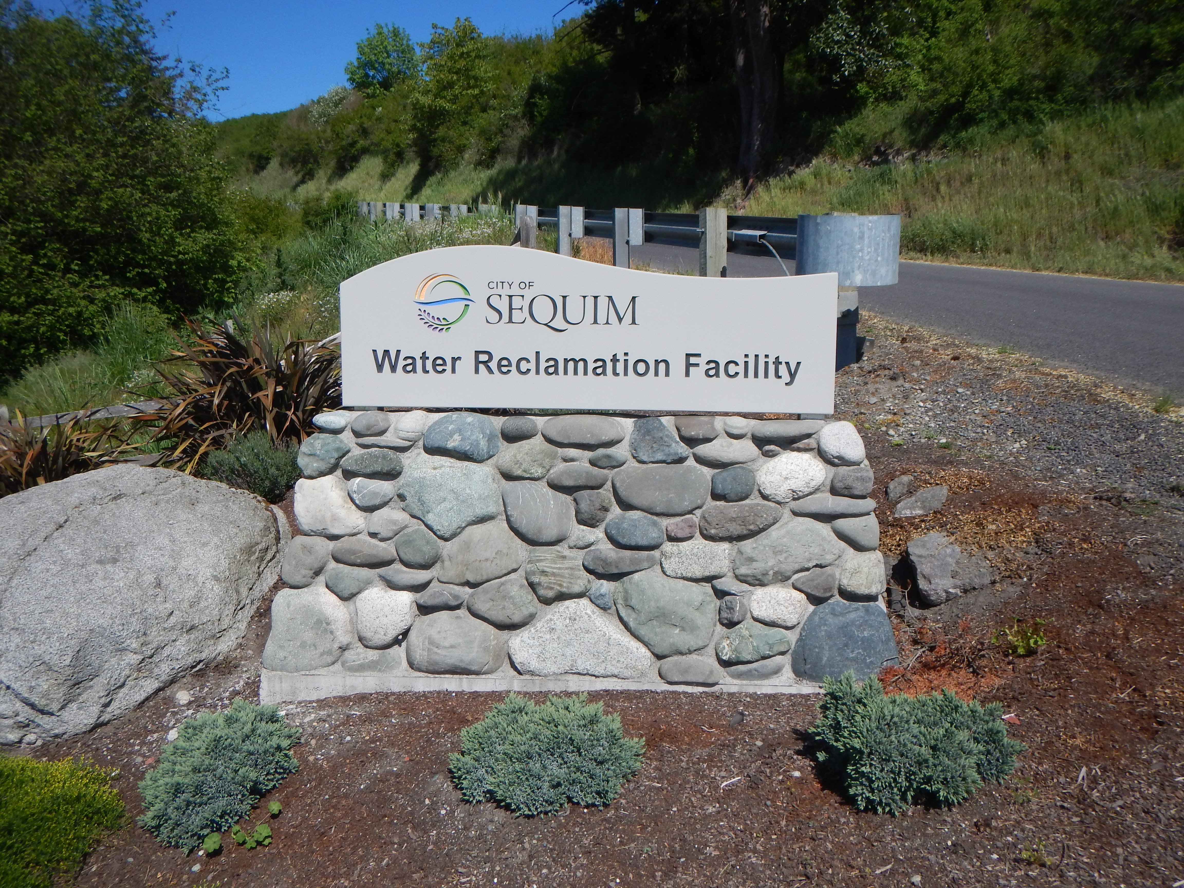Water reclamation Facility Sign