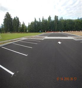 The new parking lot