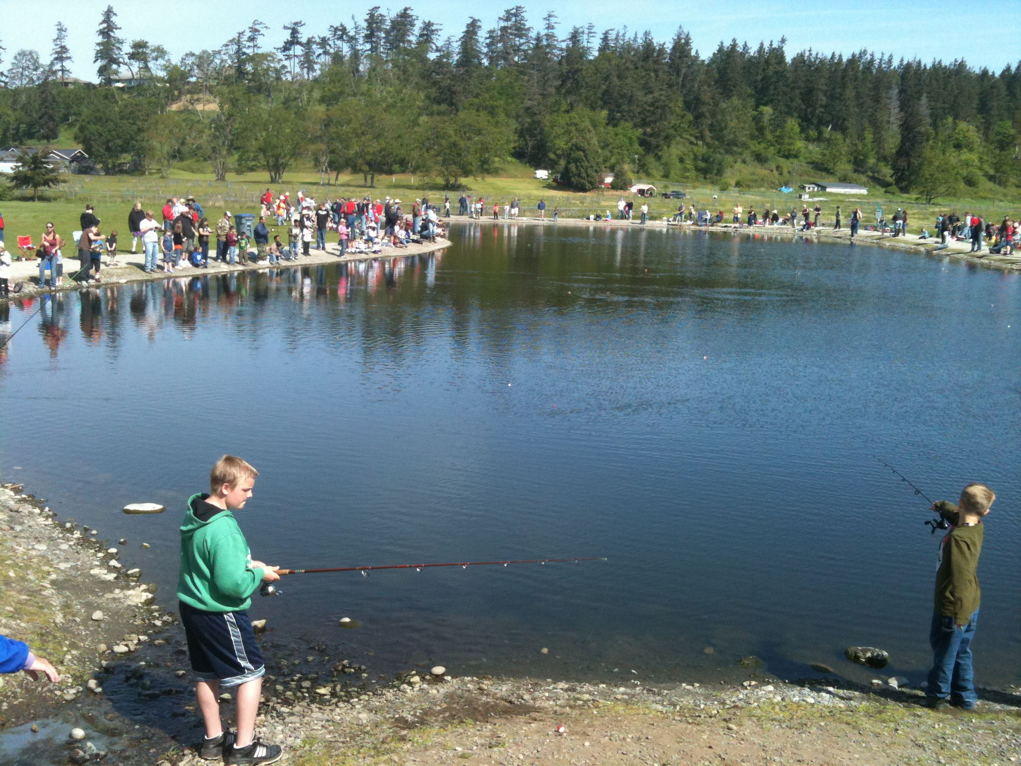 Fishing at the Reuse Pond