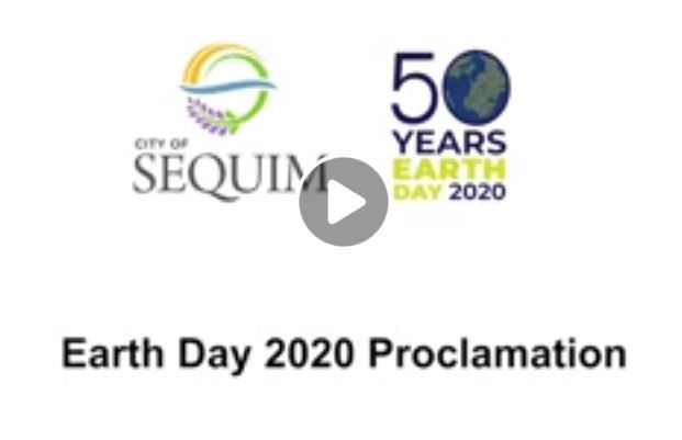 Earth Day video entry screen