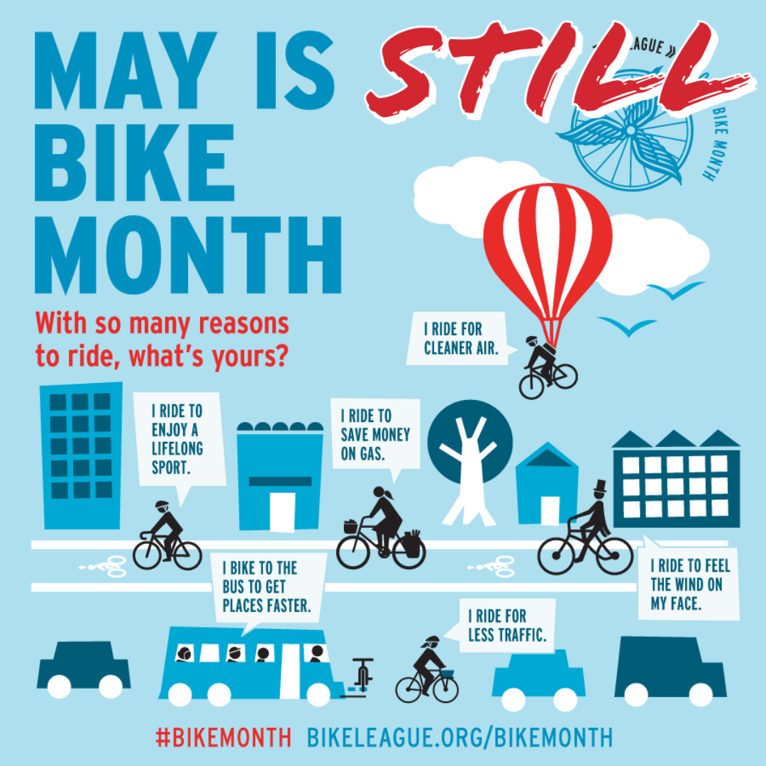 MAY is STILL BIKE MONTH graphic image