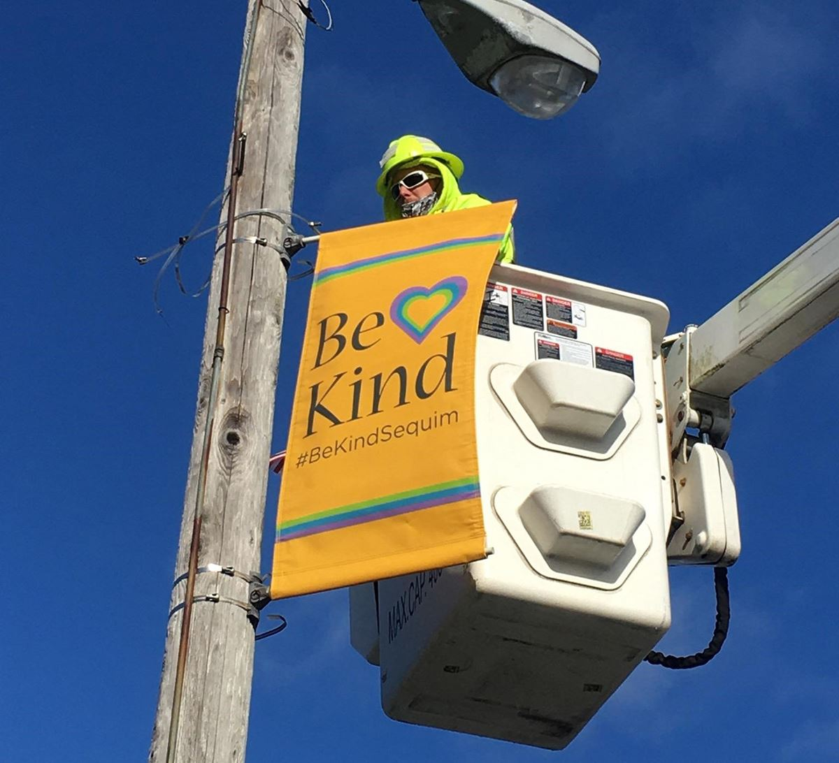 Be Kind Banner Installation
