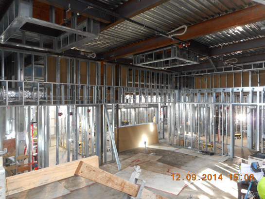 civic center lobby framing